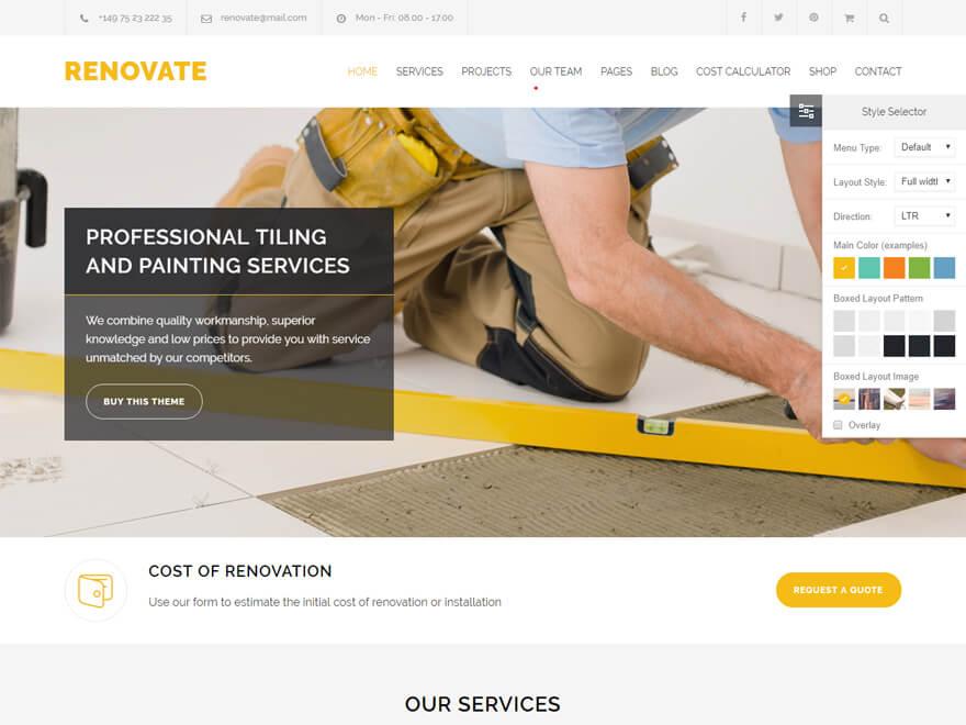 Renovar: las mejores plantillas y temas de WordPress para empresas de construcción