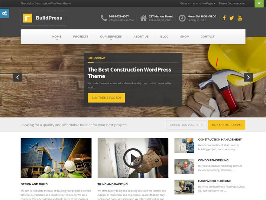 BuildPress: las mejores plantillas y temas de WordPress para empresas de construcción
