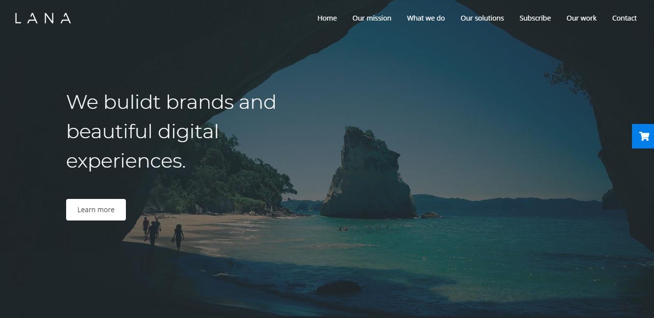 Lana - Tema premium de WordPress en construcción
