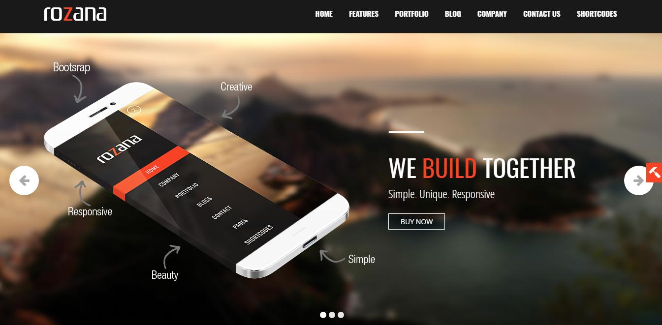 Rozana - Tema premium multipropósito de WordPress