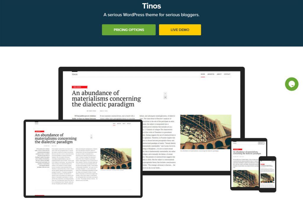 Temas de WordPress de Tinos