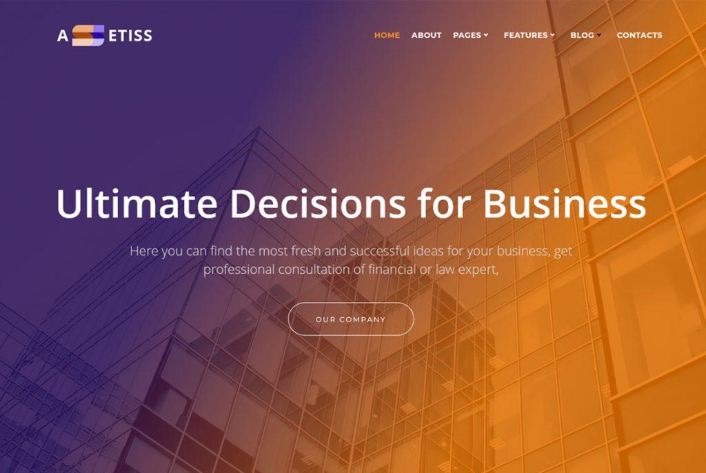 Tema de WordPress de Assetiss