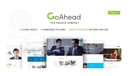 GoAhead: los temas de WordPress más receptivos para la banca en línea