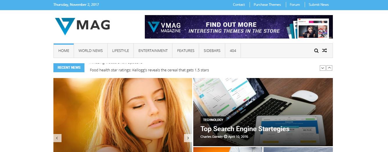 VMag Lite - Los 7 temas principales de revistas y periódicos de WordPress