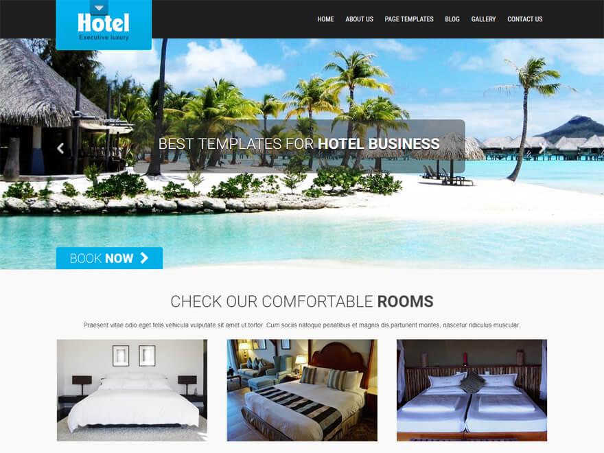 SKT Hotel: los mejores temas gratuitos de WordPress para albergue y resort (plantillas de hostelería)