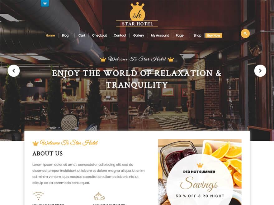VW Hotel - Best Hostel Resort Temas gratuitos de WordPress (Plantillas de hostelería)