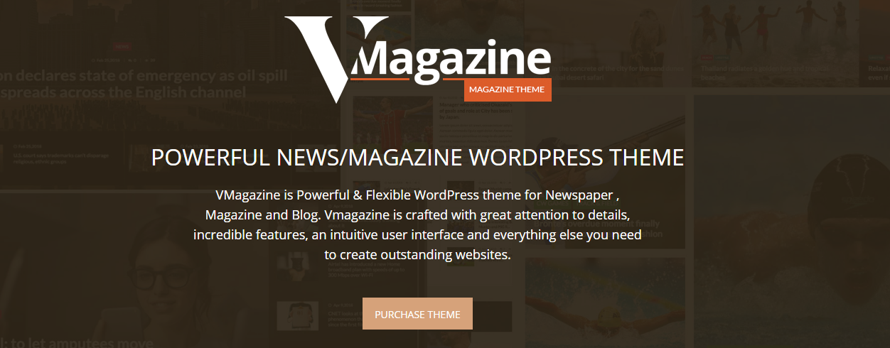 Vmagazine - Tema de WordPress para blogs y revistas