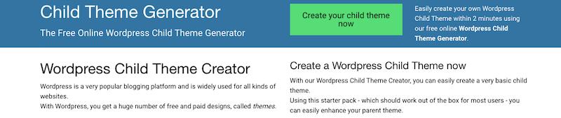 Cómo configurar un tema hijo en WordPress con un generador de tema hijo img 1