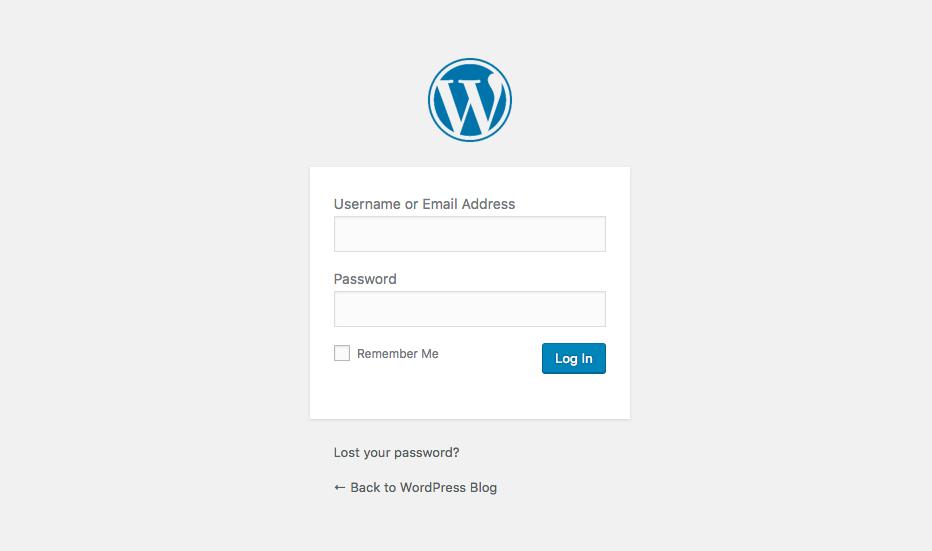 Formulario de inicio de sesión principal de WordPress