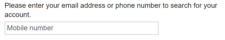 Ingrese la dirección de correo electrónico o el número de teléfono