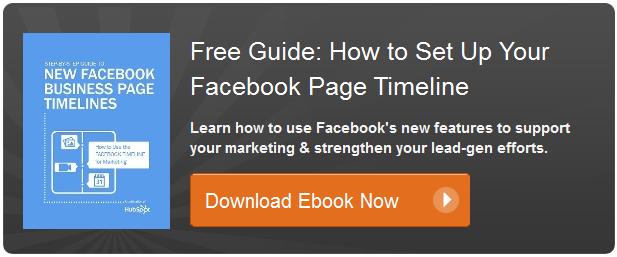 Guía de Hubspot sobre líneas de tiempo para Facebook Páginas de fans para Smallbiz