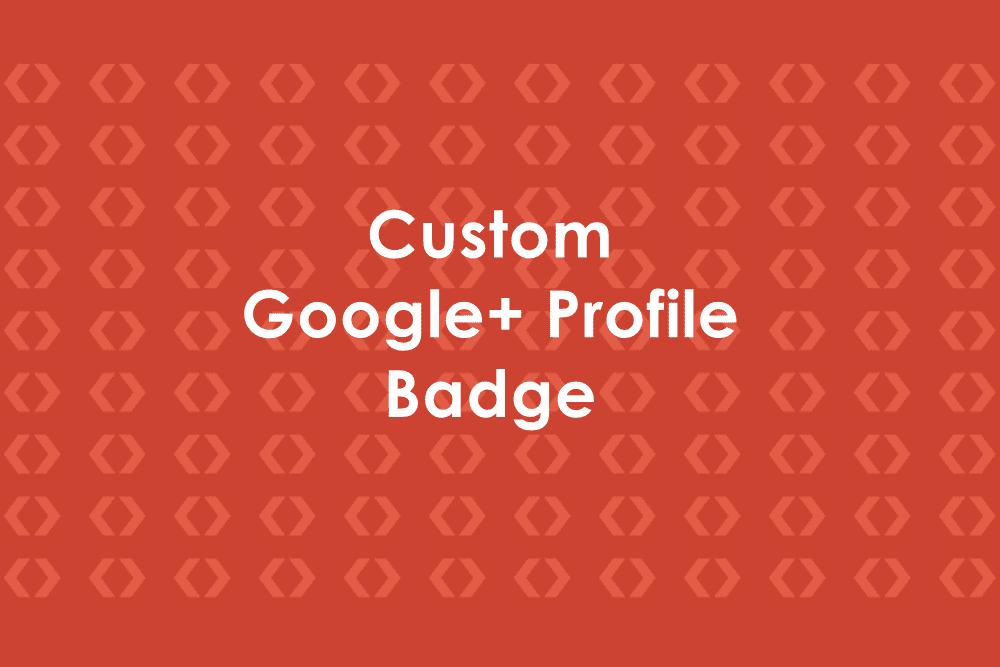 Insignia personalizada de perfil de Google+