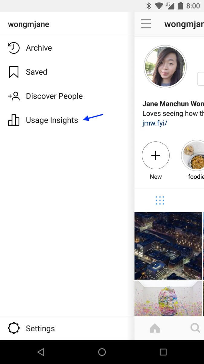 Estadísticas de uso de Instagram