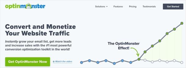 Página de inicio de OptinMonster