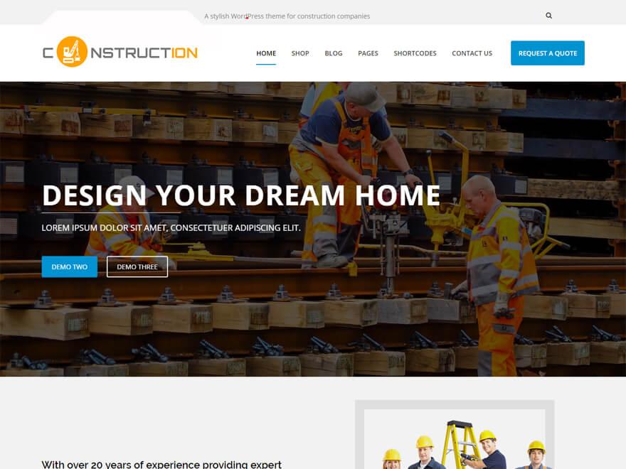 Construction Pro: las mejores plantillas y temas de WordPress para empresas de construcción