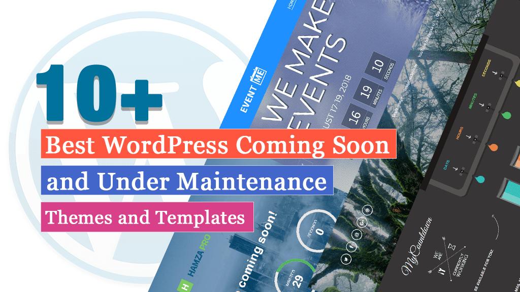 Los mejores temas y plantillas de WordPress en construcción y próximamente