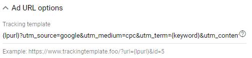 Ejemplo de módulo de seguimiento de Urchin (UTM)
