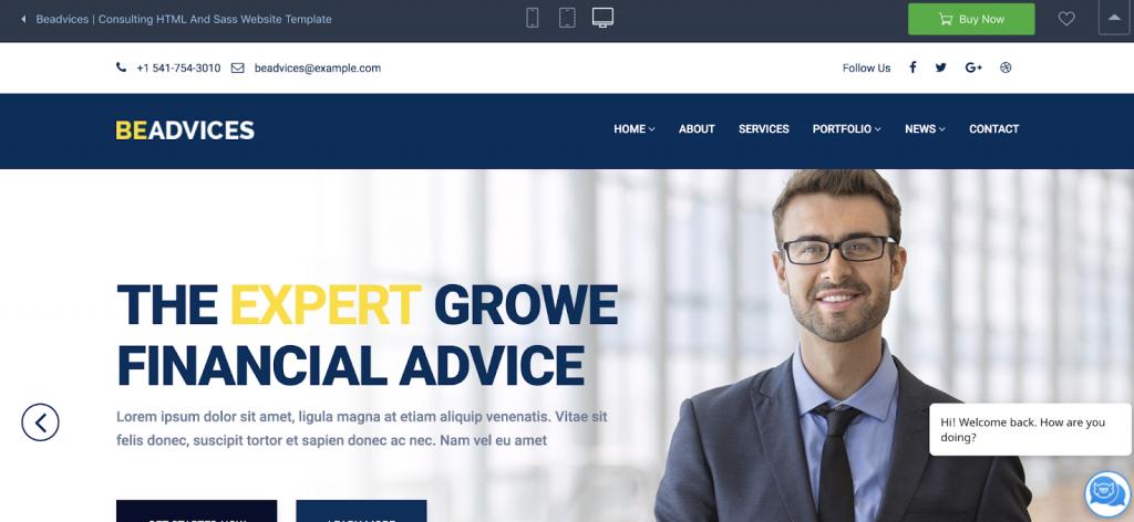 Beadvices: el tema de WordPress de mayor capacidad de respuesta para la banca en línea