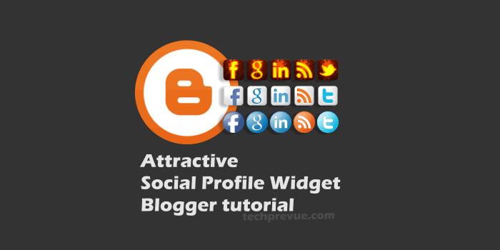 Widget de perfil social atractivo para Blogger