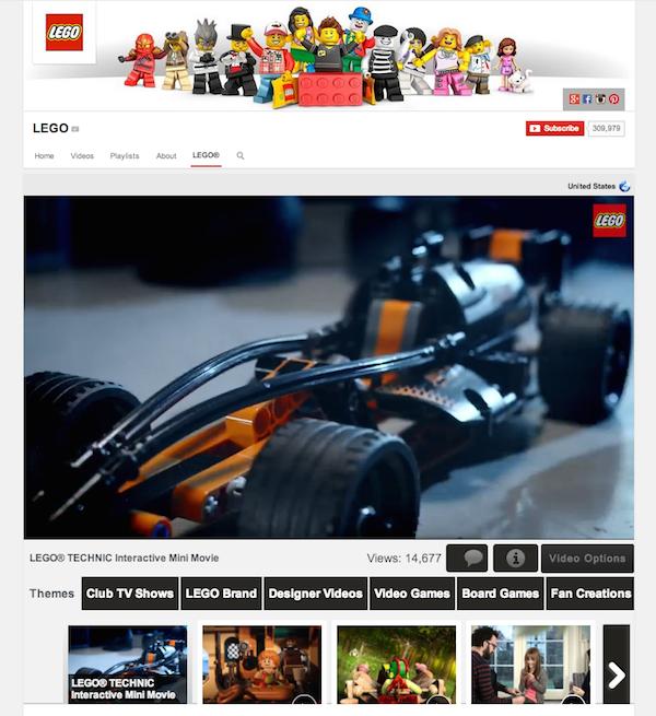Canal de YouTube de LEGO