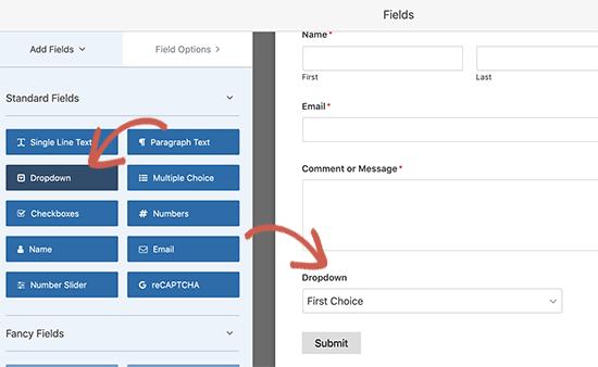 Agregar un nuevo campo a su formulario de contacto