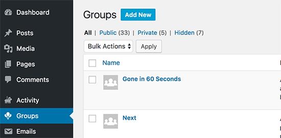 Agregar nuevo grupo