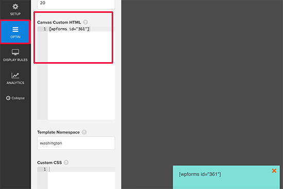 Agregar código corto a HTML personalizado