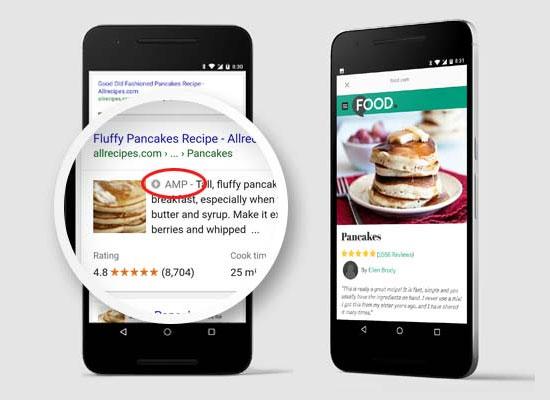 Páginas de AMP que aparecen en los resultados de búsqueda de Google