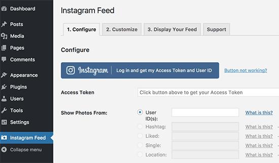 Obtenga el token de acceso y la identificación de usuario de Instagram
