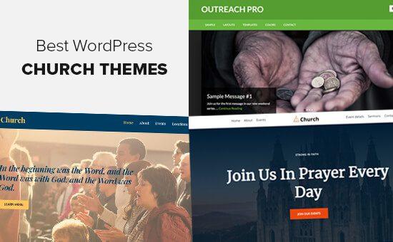 Los mejores temas de WordPress para iglesias