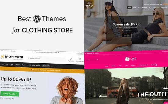 Los mejores temas de WordPress para tiendas de ropa