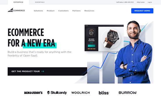 El sitio web de BigCommerce