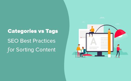 Uso de categorías y etiquetas para ordenar contenido en WordPress