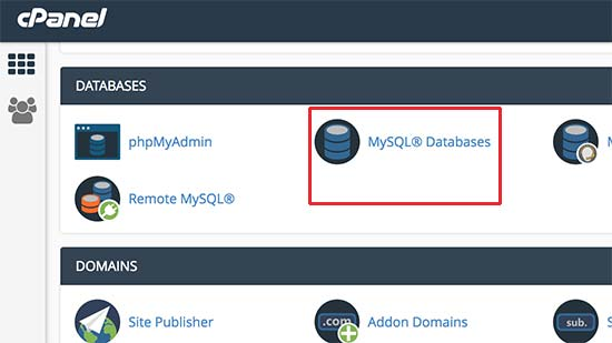 Bases de datos MySQL en cPanel
