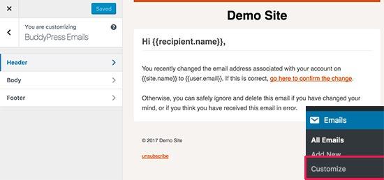 Personalizar correos electrónicos