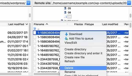 Elimina archivos para liberar espacio