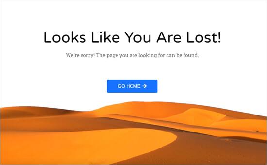 Página de error del desierto