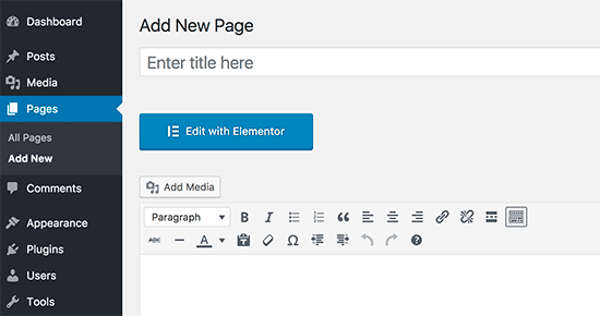 Editar con el botón Elementor
