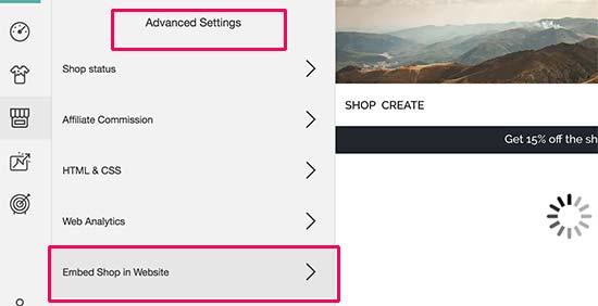 Insertar tienda en sitio web