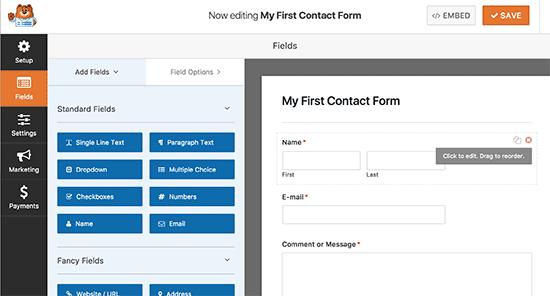 Constructor de formularios
