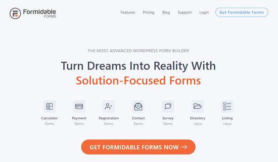 El sitio web de Formidable Forms