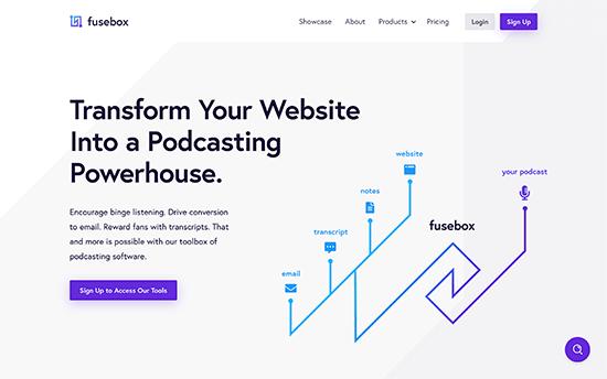 Fusebox también conocido como Smart Podcast Player