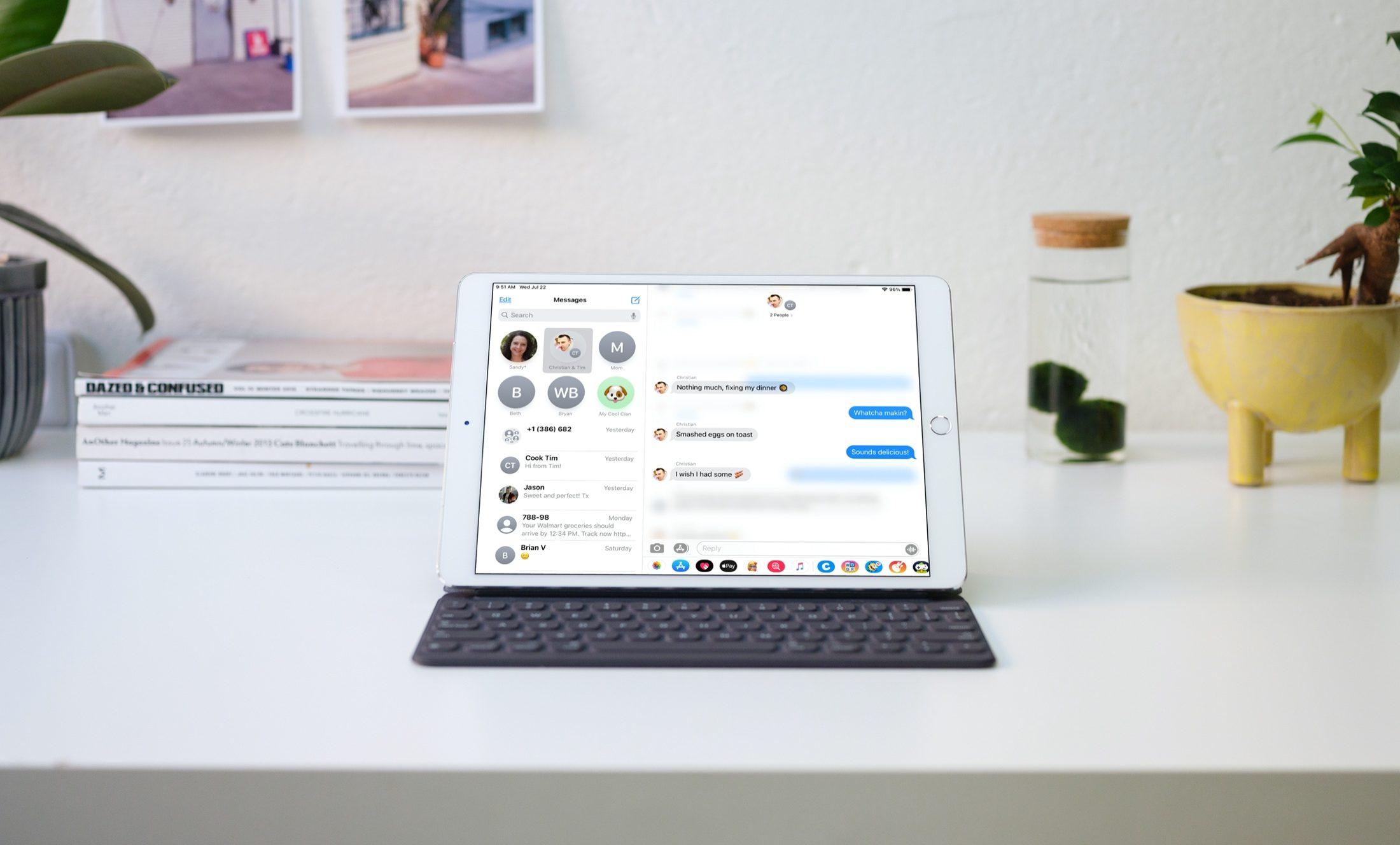 Respuestas incrustadas en Mensajes en su iPad