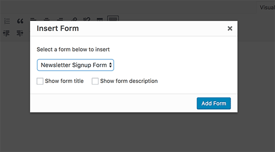 Insertar formulario