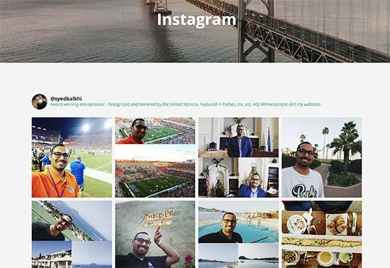 Vista previa de Instagram