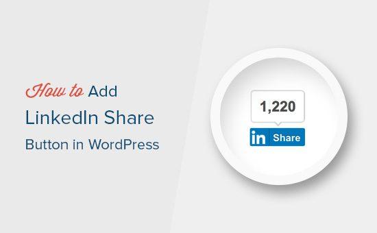 Agregar el botón para compartir de LinkedIn en WordPress
