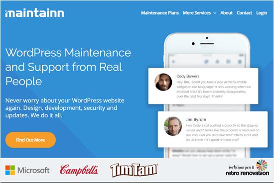 Sitio web de Maintainn