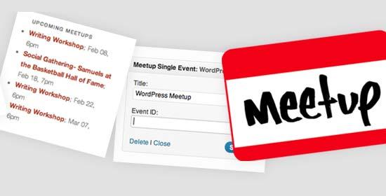Widgets de Meetup