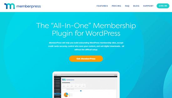 El sitio web de MemberPress