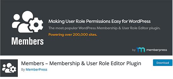 Miembros - Complemento del editor de roles de usuario